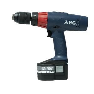 AEG SBE 12T Super Torque Δράπανο Επαναφορτιζόμενο12V- 2 x 2.4AH