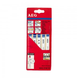 Aeg T318ΒF Σετ Πριονάκια Σέγας Μετάλλου Bi-Metal 105mm 4932274653
