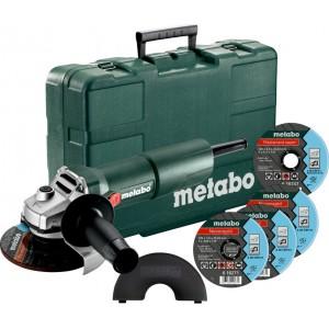 Metabo W750-125 SET Γωνιακός Τροχός Set 750W 125mm + 3 Δίσκοι Κοπής
